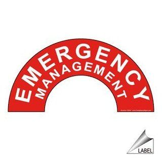 Emergency Management Label NHE 19244 Hard Hat / Helmet Labels  Message Boards