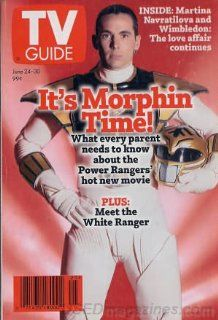 TV Guide June 24 30, 1995 (It's Morphin Time! What Every Parent Needs To Know About The Power Rangers' Hot New Movie; Martina Navratilova and Wimbledon: The Love Affair Continues; The Real World: MTV's Popular Living Soap Opera Moves to London,