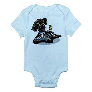 Funny Pointing Griffon Infant Bodysuit by ahamiltonart