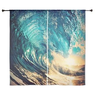 Surfing Wave 60 Curtains by luckyflops