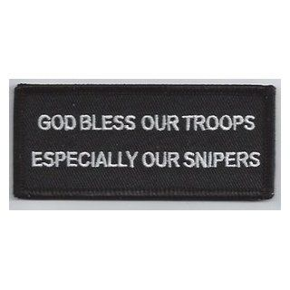 God Bless Our Troops Especially Our Snipers Military Vet Veteran NEW Biker Patch: Everything Else
