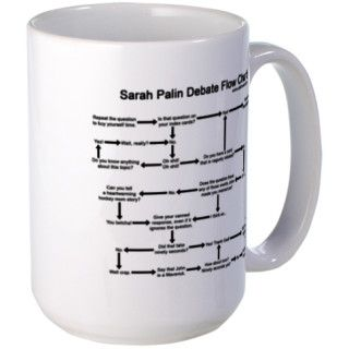 Sarah Palin debate flow chart Mug by adennak