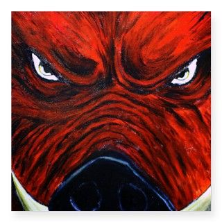 Razorback Spirit for Arkansas Hog Fans Sticker by catchalater
