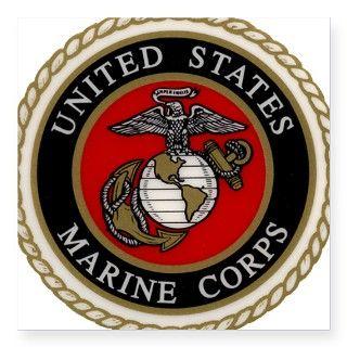Marine Corps Eagle Globe & An Square Sticker by Admin_CP1956590