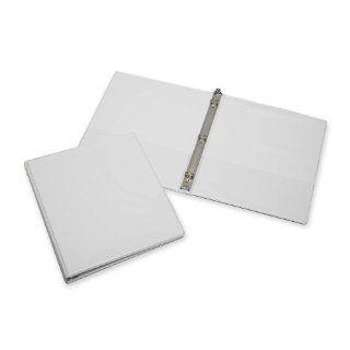 "Skilcraft Rigid Loose leaf 3 Ring Binder, Letter   8.5"" x 11""   0.5"" Capacity   1 Each   White"