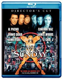 Any Given Sunday (Director's Cut) [Blu ray] Ann Margret, Bill Bellamy, Elizabeth Berkley, Andrew Bryniarski, Dick Butkus, LL Cool J, Clifton Davis, Jamie Foxx, Lauren Holly, James Karen, Duane Martin, John C. McGinley, Matthew Modine, Al Pacino, Denni