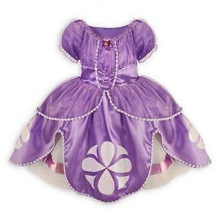 Disney Sofia the First Dress Costume for Girls Small 5 / 6 Sophia: Toys & Games