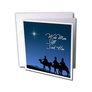 gc_30754_1 777images Designs Christian   Wise men still seek Him Magi following the Christmas star   Greeting Cards 6 Greeting Cards with envelopes  Blank Greeting Cards