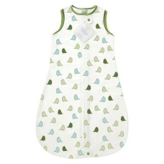 Swaddle Designs Lightweight Cotton zzZipMe Sack   Green Little Chickies 3mo 6mo