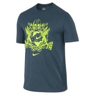 Nike Academy Graphic Dri FIT 1 Mens T Shirt   Space Blue