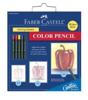 Faber Castell Creative Studio Getting Started Art Kit Color Pencil  Artists Drawing Sets