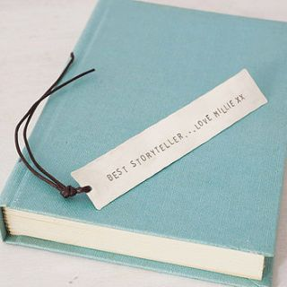 personalised silver bookmark by honeybourne jewellery