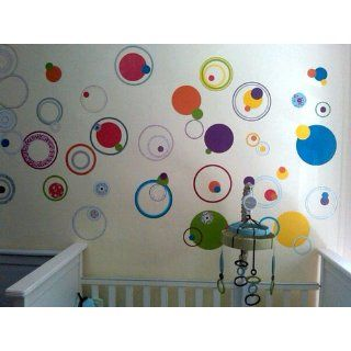 RoomMates RMK1248SCS Just Dots Primary Colors Peel & Stick Wall Decals   Decorative Wall Appliques