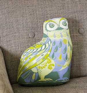oswald the owl tea towel or cut and sew kit by sarah young