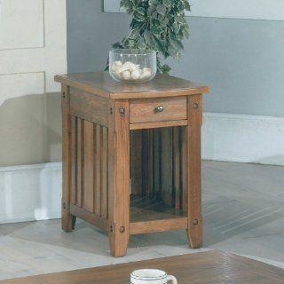 """Dark Oak Chairside Table (Dark Oak) (25""""H x 17""""W x 23.75""""D)   End Tables"""
