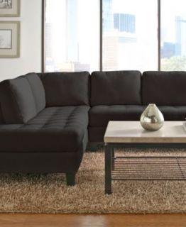 Milo Fabric Microfiber Sectional Sofa, 2 Piece (Sofa & Chaise) 115W X 87D X 27H   Furniture