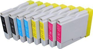 8 Pack Compatible Brother LC 51 , LC51 2 Black, 2 Cyan, 2 Magenta, 2 Yellow for use with Brother DCP 130 C, DCP 135 C, DCP 150 C, DCP 330 C, DCP 350 C, DCP 540 CN, FAX 1355, FAX 1360, FAX 1460, FAX 1560, FAX 1860 C, FAX 1960 C, FAX 2480 C, MFC 230 C, MFC 2
