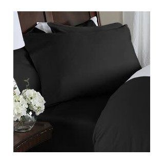 Bed in a Bag 1659 king RT 8pc Solid Black 550TC King Egyptian Cotton Bed in a Bag