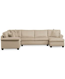 Conrad Fabric Chaise 3 Piece Sectional   Furniture