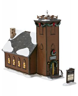 Department 56 Snow Village   The Little Brown Church in the Vale Collectible Figurine   Retired 2013   Holiday Lane
