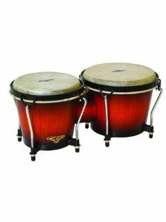 Latin Percussion CP221VSB Traditional Bongos   Vintage Sunburst: Musical Instruments