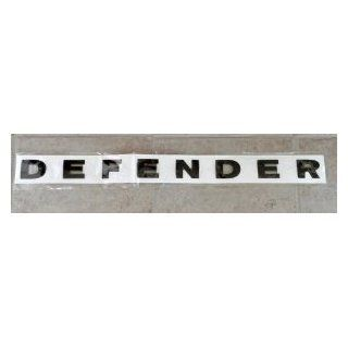 Land Rover Defender Replacement Letters Black