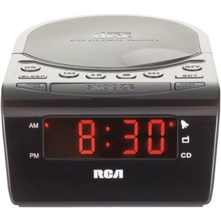 RCA RC5610 CD Clock Radio, AM FM CD Clock Radio, Digital Alarm Clock Radio, CD Stereo Clock Radio