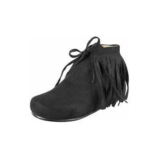 Kid's Black Indian Costume Boots (Size: Medium): Clothing