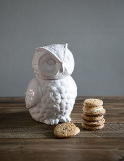 owl cookie jar by rose & grey
