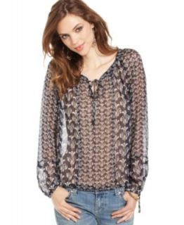 Lucky Brand Jeans Floral Print Blouse   Tops   Women