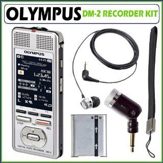 Olympus DM 2 4GB microSD Digital Voice Recorder + Accessory Kit Electronics