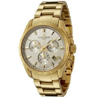 Jacques Lemans Men's GU191F Geneve Collection Tempora Chronograph Gold Plated Stainless Steel Watch at  Men's Watch store.