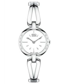 ESQ Movado Watch, Womens Swiss Contempo Diamond Accent Stainless Steel Bangle Bracelet 30mm 07101405   Watches   Jewelry & Watches