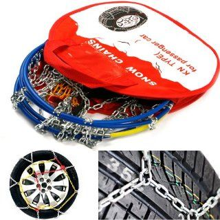 Car Universal Flexible Snow Tire Chain Set of 2ea [KN40  155/80 13 , 165/70 13 , 175/60 13 , 185/60 13 & more   See Size Table] T�V Approved Tire Traction Chain   Free Ship by EMS (approx 5 ~ 7 Business Days) Automotive