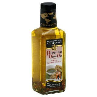 International Collection Basil Sun dried Tomato Dipping Oil 8.45 FO : Packaged Tomato Soups : Grocery & Gourmet Food