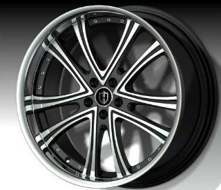 Curva Concepts C179 18x8 Inch 5x114.3 Black Machine Face Wheel Automotive