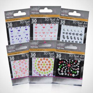 Pretty Woman Decorative 3D Nail Stickers   The Complete Set   Count of 180 Nail Stickers Health & Personal Care