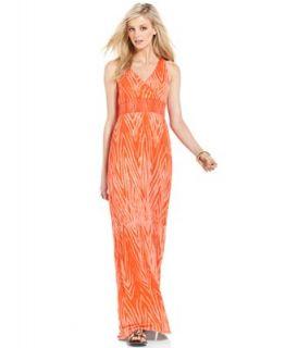 Lucky Brand Jeans Dress, Sleeveless V Neck Printed Maxi   Dresses   Women