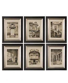 Uttermost Set of 6 Paris Scene Framed Art Prints, 19 x 24   Wall Art   For The Home