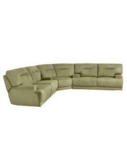 Ricardo Fabric Reclining Sectional Sofa, 3 Piece Power Recliner (Sofa, Wedge and Loveseat) 146W x 123D x 38H   Furniture