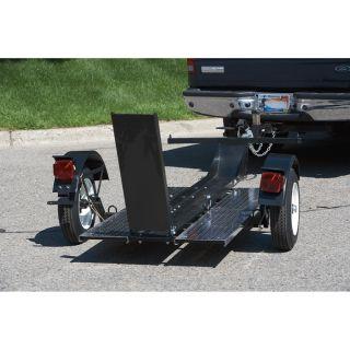 Ultra-Tow Single-Rail Folding Motorcycle Trailer, Model# 3806S084  Trailers