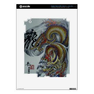 Cool Japanese Dragon tattoo art Decal For iPad 3