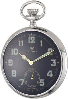 Catorex Men's 170.1.1810.321 La Pautele Brass Black Dial Pocket Watch: Watches