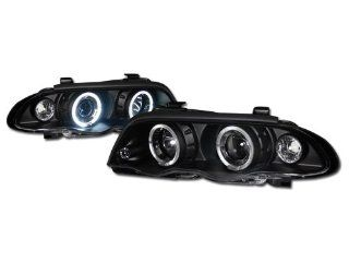 Blk Dual Halo Rims Projector Head Lights Lamp Corner Signal Bmw E46 4D/4Dr: Automotive