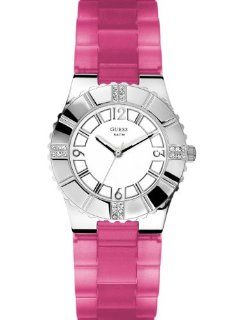 Guess Ladies Pink Rubber Watch U95156L1: Watches