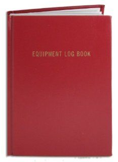 "BookFactory� Equipment Log Book   168 Pages, Red Cover, Smyth Sewn Hardbound, 8 7/8"" x 11 1/4"" (LOG 168 LEL A LRT10)  Record Books"