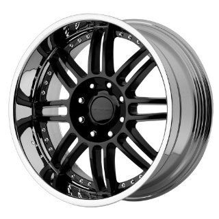 "KMC Wheels Backseat KM125 Gloss Black Wheel with Machined Lip (20x9""/8x165.1mm): Automotive"