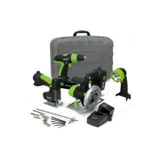 Kawasaki 840055 Black 19.2 Volt 4 Tool Cordless Combo Kit   Power Tool Combo Packs