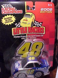 Jimmie Johnson #48 LOWE'S Little Racers *Racing Champions 2002 Motorized die cast stock car Toys & Games