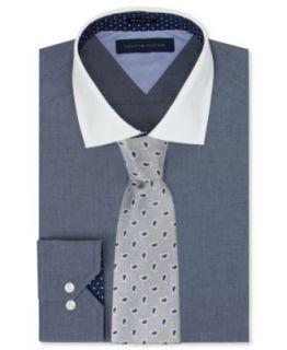 Donald J. Trump Blue Stripe Dress Shirt & Chrome Unsolid Tie   Dress Shirt & Tie Combos   Men